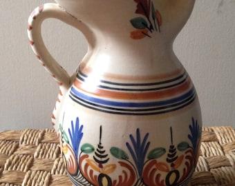 Years 70 Sangria jug/jug ceramic hand painted Retro