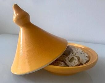 Modern Yellow Moroccan Tajine (Ceramic)