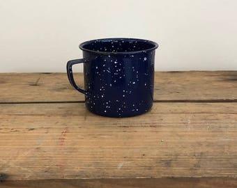 Blue and White Enamel Mug