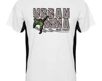 """""""URBAN MMA free fight"""" tshirt. Always willing to fight MMA sports T-shirt. Mixed Martial Arts"""