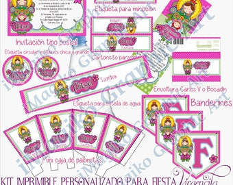 Personalized Printable Kit for Parties. Virgencita