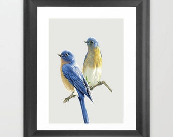 two birds wall art instant download high resolution
