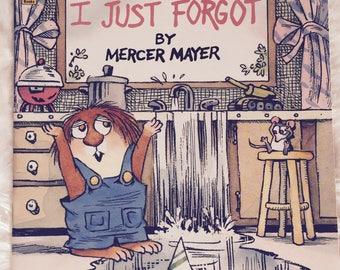 I Just Forgot||1997 vintage children's book, Mercer Mayer, Golden Book, picture book, Little Critter, Golden Look-Look book, paperback
