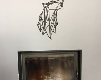 Wolf wall wooden /decoupe laser
