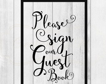 Please Sign our Guestbook Decal