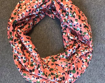 Coral Chiffon Infinity Scarf