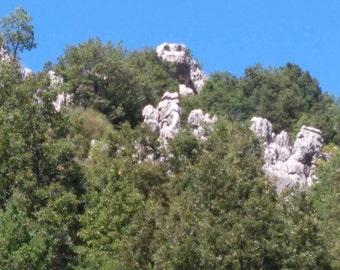 Crocodile head- shaped rock