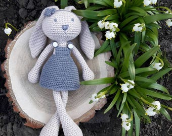Knitted toy bunny||knitted bunny||knitted rabbit||knit bunny||knitted toy bunny||knitted animal||knitted soft toy|hand knit bunny