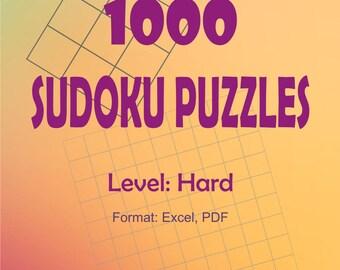 1 000 Sudoku Puzzles - Level: Hard
