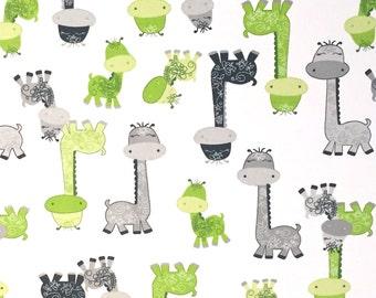 Giraffe Cotton Fabric, Fabric by the Yard, Quilting Fabric, Apparel Fabric