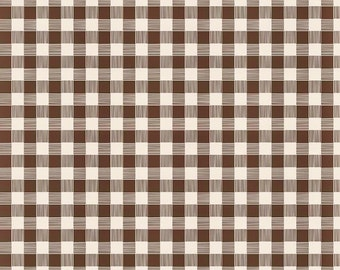 Brown Plaid Flannel Fabric by the Yard, 100 % Cotton Fabric Shop Brown Gingham Apparel Fabric Quilt Cotton Flannel Riley Blake Cotton Fabric