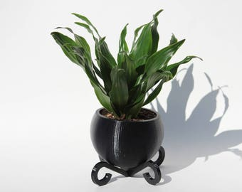 Spherical 3D Printed Planter with Spiral Stand