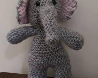 Crochet Elephant Applique Pattern Jungle Nursery Crochet