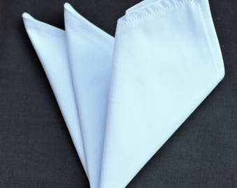 Hankie Pocket Square Handkerchief Light Blue (2) - Premium Cotton - UK Made