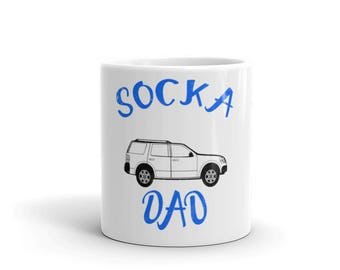 Socca Dad distressed Spartees Mug
