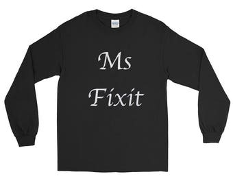 Ms Fixit distressed Unisex Spartees Long Sleeve T-Shirt