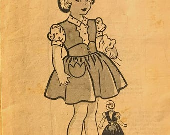 Anne Adams Precious 1930's child's dress pattern