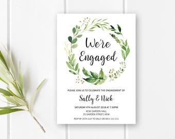 Engagement invites etsy for Online engagement party invitations