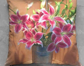 Lily Bouquet Pillow