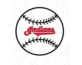 Cleveland SVG and Studio 3 Cut File Cutouts Files Logo Stencil for Silhouette Cricut Logos Decal SVGS Decals Indians Baseball