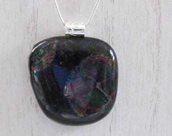 Dichroic Pendant; Dichroic Jewelry; Fused Glass Pendant; Fused Glass Jewelry/PDM