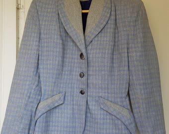 40's plaid wool jacket Women's S/M.