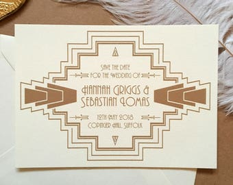 1920's Art Deco Gatsby Luxury Wedding Save the Date