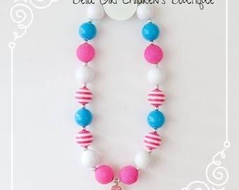 Bubblegum Necklace, Cake Smash Necklace, Photo Shoot Necklace, Chunky Bubblegum Necklace, Children's Necklace