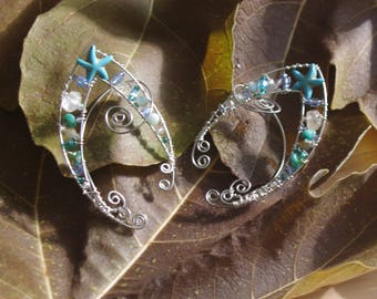 Wire Wrapped Pixie Ear Cuffs Mermaid