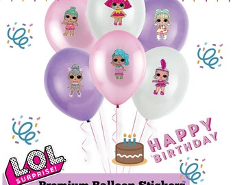 L.O.L Surprise Dolls - Character Balloon Premium Stickers