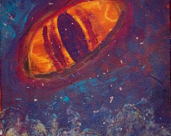 Eye, original art, acrylic on canvas