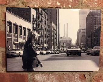 Crossing Midtown Street - 1970's