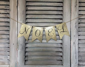 Handcrafted Noel Banner a perfect touch for your Christmas decor.