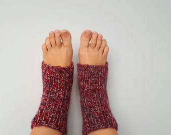 Handmade wool knitted yoga-socks with Latvian soul. MADE TO ORDER.