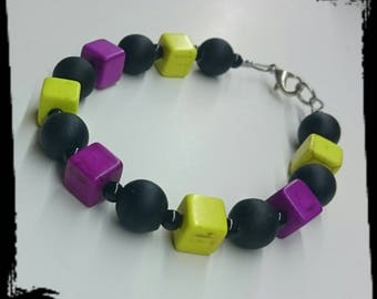 Fancy howlite bracelet