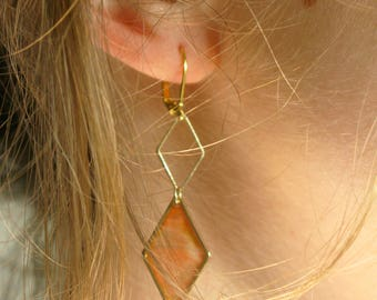 Earrings gold / / earrings long gold / / thin dangling earrings / / gold / / gift / / gift / / Valentine's day