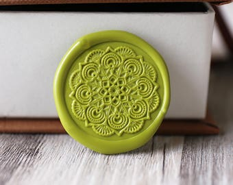 Mandalas wax seal stamp kit, holy seal, Datura gift set,Christmas gift