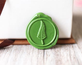 Green Leaf wax seal stamp kit, plant seal, Christmas gift,party wax seal stamp set, wedding wax stamp