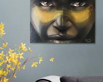 """Original acrylic painting """"tribal"""""""