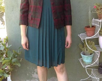 coat wool vintage/vintage/jacket coat overcoat/vtg 50s vintage/jacket/bag vintage
