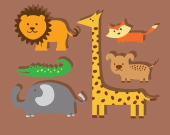 Animal Svg/Eps/Png/Jpg/Cliparts,Printable, Silhouette and Cricut File !!!