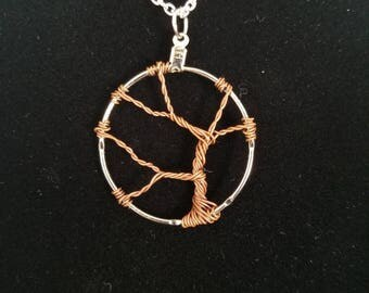Copper Tree of Life Pendant Necklace
