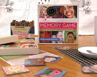 Memory Game: Fresh Faces Edition - A perfect intergenerational matching game for kids to adults with a social justice mission.
