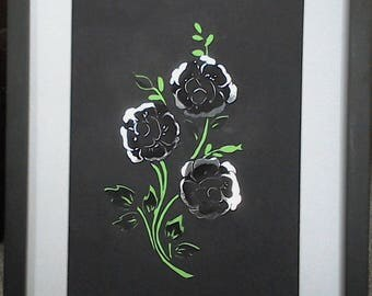 Black  Wallflower (silver background)