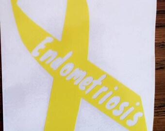Endometriosis ribbon decal