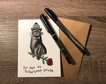 """Significant Otter Card 4"""" x 5.5"""""""