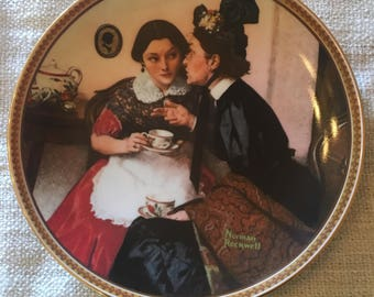 """Norman Rockwell """"Gossiping in the Alcove"""" Collector Plate"""