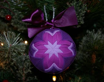Ultra Violet Quilted Ornament