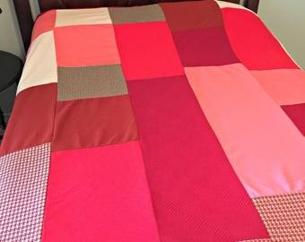 Vintage '70's Polyester Quilt Top-Unfinished