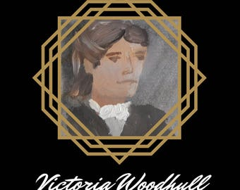 Victoria Woodhull Folded Cards - Badass Ladies of History - Feminist Greeting Cards